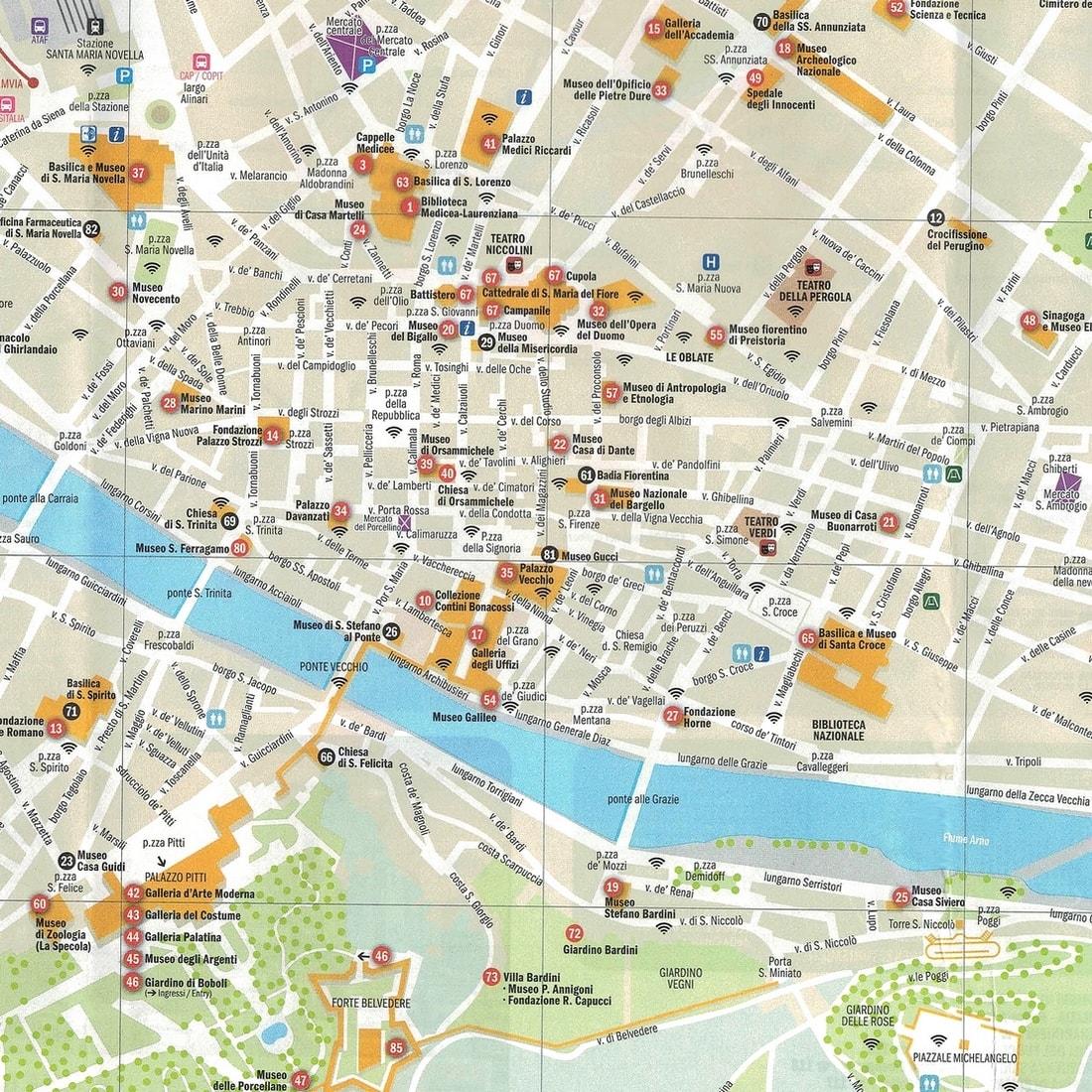 Cartina Citta Di Firenze.Mappa Turistica Di Firenze Cartina Geografica Centro Storico